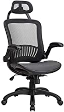 HCB Office Chair Desk Chair High Back Mesh Chair Ergonomic Computer Chairs with Adjustable Headrest Flip Up Arms Backrest Lumbar Support 360 Degree Rolling Swivel for Adults Men and Women (Black)
