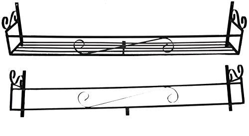 Wimborne Deko-Blumenkasten, Schmiedeeisen, 122 cm, Schwarz