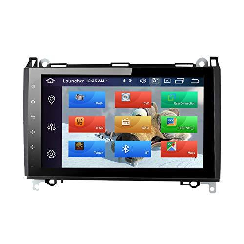 """ZLTOOPAI Lettore multimediale per auto per Mercedes Benz Sprinter B200 Viano Vito W639 W169 W245 W209 Android 10 Octa Core 4G RAM 64G ROM 9"""" IPS Double Din Autoradio Audio Stereo Navigazione GPS"""