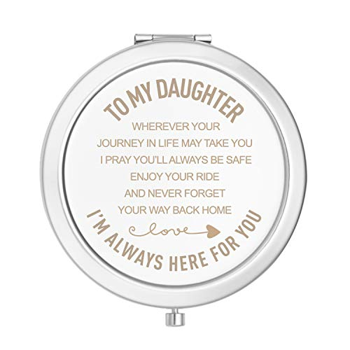 sedmart Daughter Gifts from Mom and Dad,Mother Daughter Gifts,Father Daughter Gifts,Birthday Graduation Gifts for Girls,to My Daughter Engraved Mirror