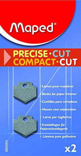 Maped 89093Set de 2cuchillas rectas para cortador de papel