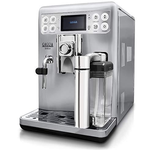 Gaggia RI9700/60 - Cafetera (Independiente, Máquina espresso, 1,5 L, Granos de café, De café molido, Molinillo integrado, Plata, Acero inoxidable)