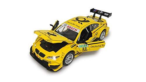 Jamara 405210-Street Kings BMW M3 DTM Diecast 1:32 giallo-Motore a trazione, Suono realistico, Fari e Luci posteriori, Porte apribili, Dettagli accurati, 405210