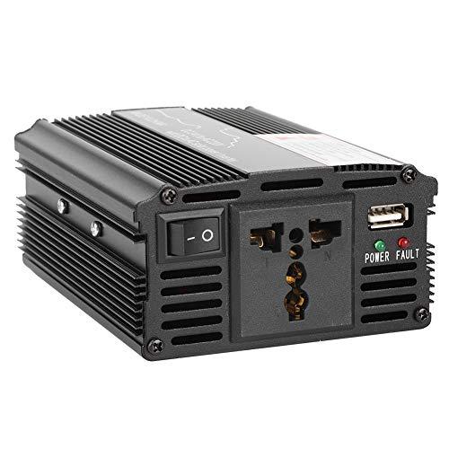 Solar-Wechselrichter, schwarz 12 / 24V bis 110 / 220V Solar-Wechselrichter, langlebig 3000W für Mini-Nähhaken...