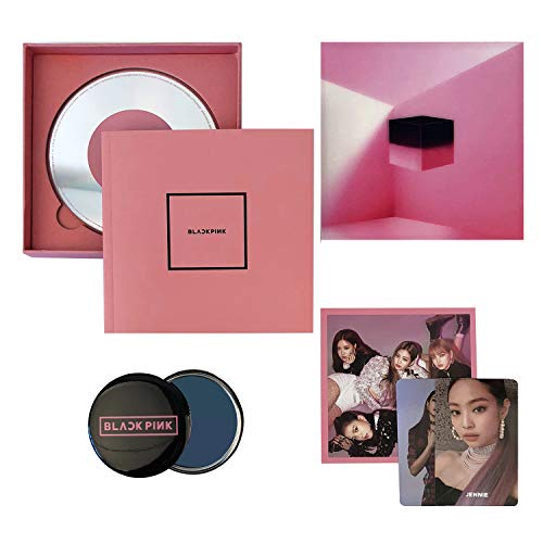 Square Up [ PINK Ver. ] - BLACKPINK 1st Mini Album CD + Photo Book + Lyrics Book + Postcard + Photocard + FREE GIFT / K-POP Sealed.
