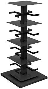Opinion Ciatti Ptolomeo X4 B - Bibliothèque Verticale, Noir Base Poli Acier H110cm, 4 éléments
