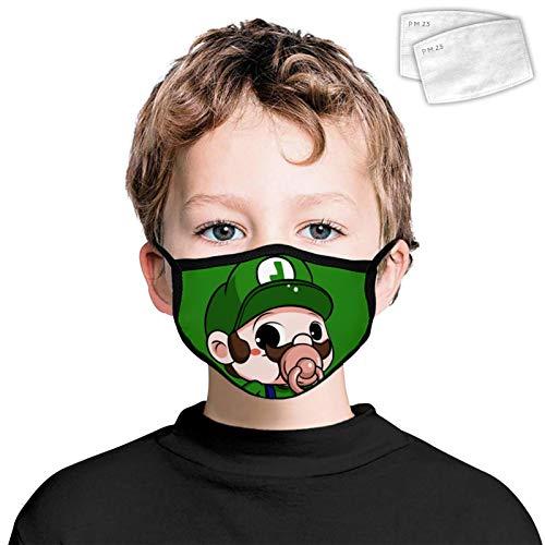 835 antipolvere copertura facciale decorazione lavabile riutilizzabile Wrap Side 2PCS filtri per bambini Super Ma-rio Louis Taglia Unica