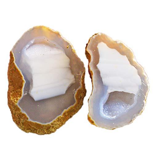 Ravishing Impressions Jewellery Natural Geode Druzy - Lote de piedras preciosas (2 piezas, 44 quilates, drusy, drusy, Tiny Geode, Baby Tobasco, Baby Geode, Geode con ágata drusa, AG-15678)