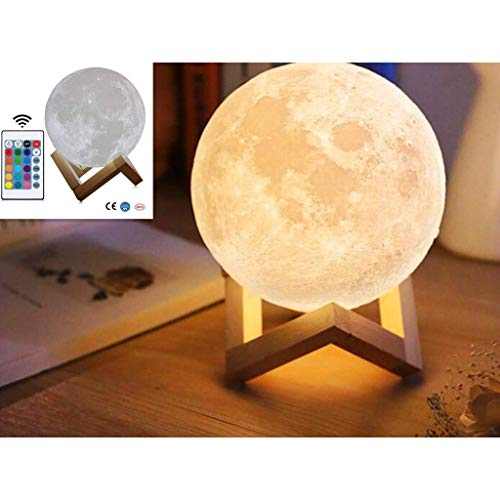 ARTIFUN Mond 3D Lampe Moon Lamp,16 Farben 15 cm / 5,9
