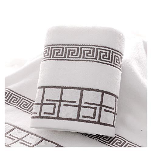 ZXF Toallas de baño para Adultos 100% algodón 70x140cm Mujeres baño súper Absorbente toallitos de Toalla Vestido de Envoltura (Color : White)