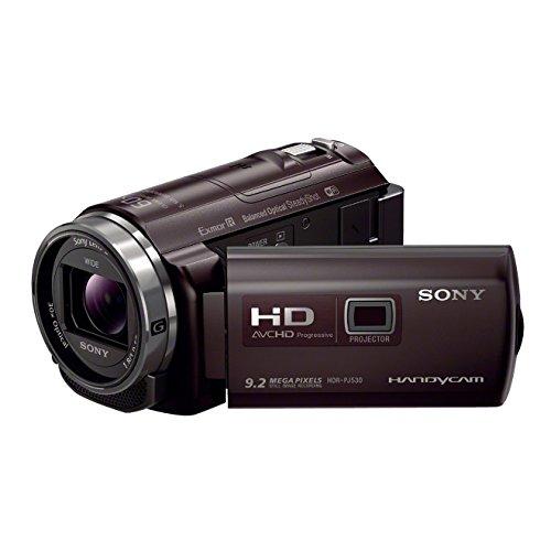 Sony HDR-PJ530 PJ-Serie HD Flash Camcorder (Full HD, 9,2 Megapixel, Sony G-Optik mit 30 fach Zoom, Projektor mit 25 Lumen und HDMI, NFC und WiFi Funktion) braun