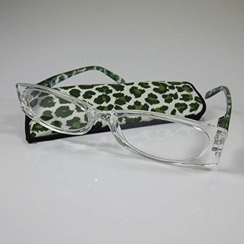 LOOK AND SEE Moderne dames leesbril +1,5 groen/trans. Flexibele beugel kant-en-klare bril