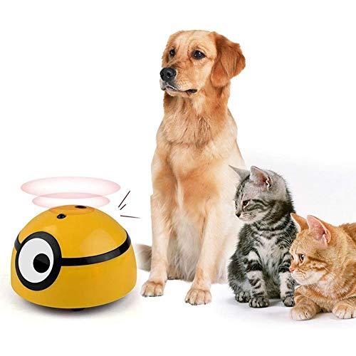 Elektrisch Interaktives Katzenspielzeug,Katzenspielzeug Haustier Katze Toy Cat Intelligentes Fluchtspielzeug Mit Infrarotinduktion x (Color : Yellow)