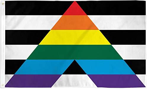 AZ FLAG Flagge ZUM HOMO-Hetero-TREFFEN 150x90cm - Gay Straight Alliance Fahne 90 x 150 cm - flaggen Top Qualität