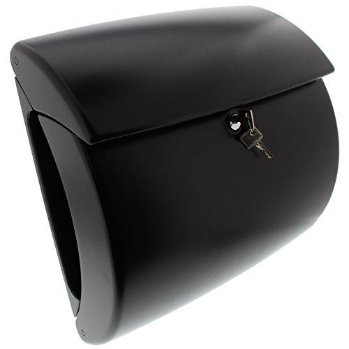 BURG-WÄCHTER Briefkasten mit Zeitungsfach ohne Namensschild, Hochwertiger Kunststoff, Einwurf-Format DIN C4, Inkl. 2 Schlüssel, Kiel 886 S, Schwarz (ähnlich RAL 9005)