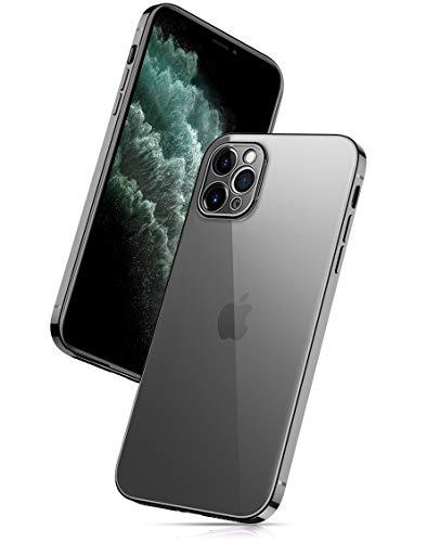 "EUDTH iPhone 11 Pro Hülle, Ultradünne Transparente Silikon Handyhülle Stoßfeste Beschichtung Cover Kameraobjektiv All-Inclusive Schutzhülle für iPhone 11 Pro 5.8\"" - Schwarz"