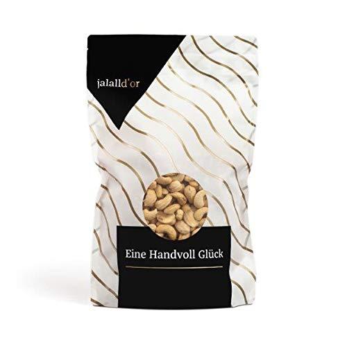 Cashewkerne bio Jalall D'or | 1kg | natur | BIO zertifiziert | ganz | BIO CASHEWS frisch abgefüllt | wertvolle MAGNESIUM-Quelle | natürlicher TRYPTOPHAN-Lieferant | Cashewnüsse 1000 g