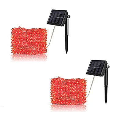 DEKOUH Solar String Lights Outdoor 8 Modes Flash Copper Wire Lights Starry Lights Waterproof Decoration String Lights for House Christmas Patio Garden Yard Pathway Party Wedding