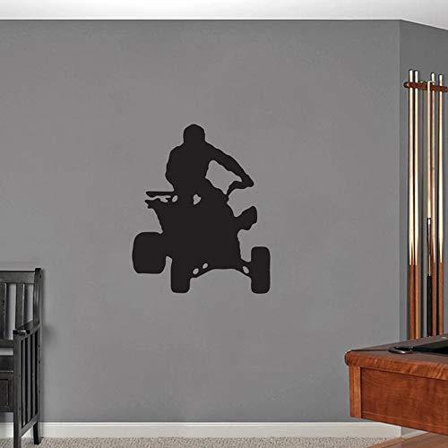 Tianpengyuanshuai Etiqueta de la Pared del Coche de Cuatro Ruedas habitación para niños decoración del hogar extraíble Arte de la Pared Vinilo Etiqueta de la Pared calcomanía 63x75cm