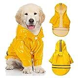 Impermeable Perro,Chubasquero para Perros,Poncho Impermeable Perros,Impermeable Perro Pequeño con Tiras Reflectantes,Adecuado para Mascotas pequeñas y Medianas