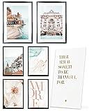 Heimlich Cuadros Decorativos - SIN Marcos -Decoración Colgante para Paredes de Sala, Dormitorios y Cocina - Arte Mural - 2 x A3 & 4 x A4-30x42 & 21x30 | » Viajes De Vacaciones «