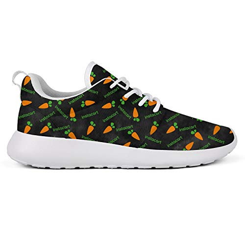 Women's Mens Canvas Comfortable Instacart-Shopper-App-Tie-Dyed-Black- Sneakers Fitness Shoe -  Unicorns Farting