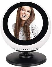 SoulQ Echo Spot Stand, rotación de 360 grados, mejora la apariencia del ángulo de visión para Amazon Echo Spot – Soporte con base magnética