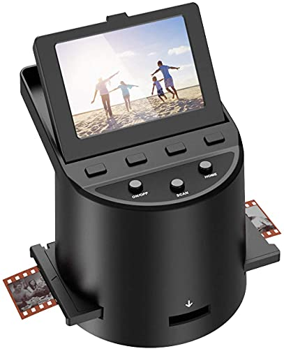 Film Scanner ad alta risoluzione 22 megapixel con Display LCD da 3,5 Pollici,Converte Super 8/110 / 126 / 35mm Negativi e Diapositive Digitale