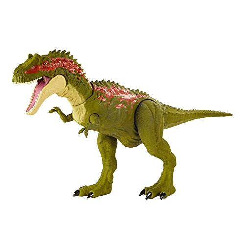 Jurassic World Morso Estremo, Dinosauro Albertosaurus Attivabile, Giocattolo per Bambini 4+Anni,GVG67