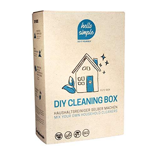 hello simple - DIY-Box: Zero Waste Putzen - nachhaltiges Putz-Set zum Selbermachen von 7 Putz- und Reinigungsmitteln