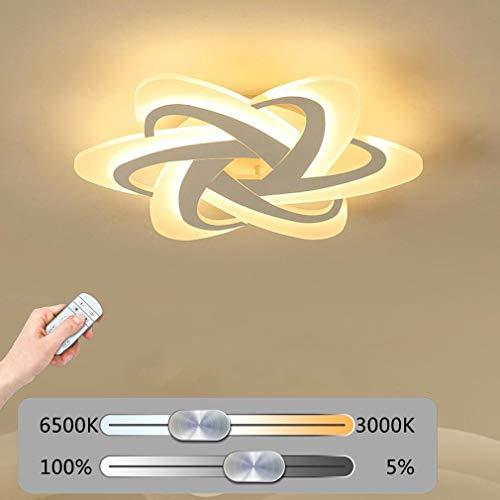 YSNJG Led-plafondlamp, hanglamp, eenvoudige dimbaar, creatief metaal, acryl, bloem, plafondlamp, binnenverlichting, slaapkamer, kokos, decoratieve verlichting