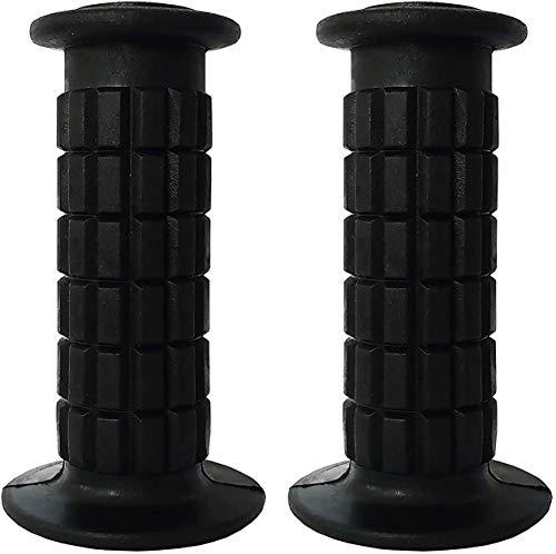 BMX Fahrradgriffe für Kinder - zwei set PVC für Junior Mountainbikes (schwarz)