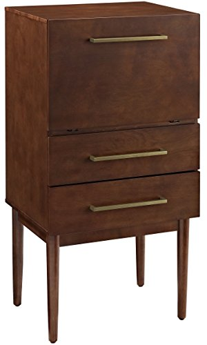Crosley Furniture Everett Spirit Cabinet - Vintage Mahogany