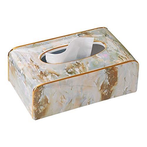 El tejido de cerámica Europea cubierta de la caja rectangular, creativo mármol textura de papel higiénico cuadro titular, Grande decorativo tejido facial dispensador de servilletas titular de la sala