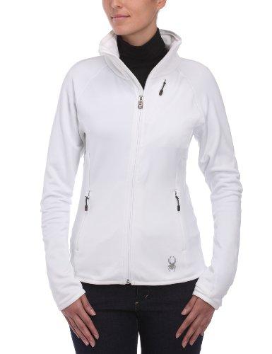 Spyder W's Bandita Full Zip Fleece Jacket Damen Power Stretch Fleece Jacke XL weiß - weiß