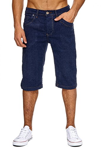 ArizonaShopping Jaylvis Herren Jeans Shorts Bermuda Hose Basic Capri, Farben:Blau, Größe Hosen:W33