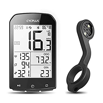 CYCPLUS GPS Bike Computer with Mount Wireless Cycling Computer Ant+ Waterproof Speedometer and Odometer M1and Z2 Handlebar Mount
