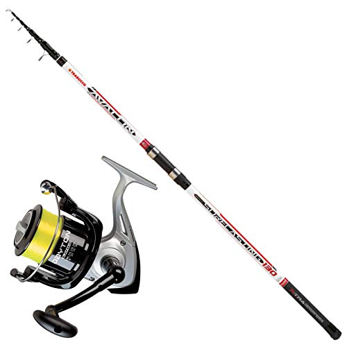 Trabucco Kit Surfcasting Canna Avalon V 4 m 130 Gr + Mulinello Dayton Surf 6500