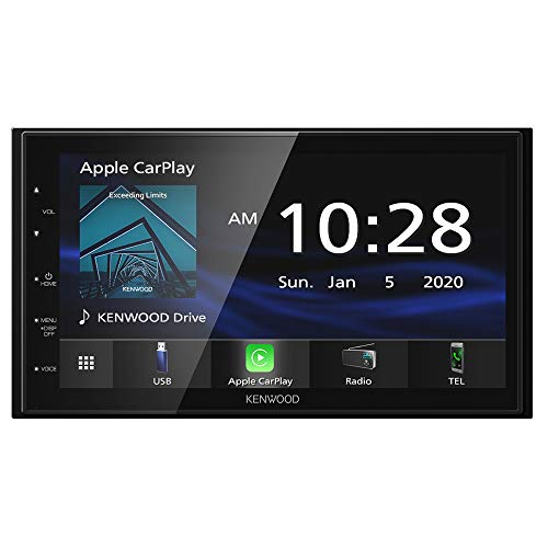 Kenwood DMX47S Mechless 6.8' Capacitive Screen Digital Multimedia Receiver with Apple CarPlay & Android Auto Functionality (Does Not Play CDs)