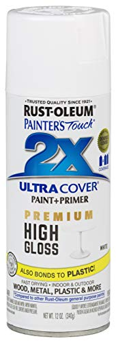 Rust-Oleum 331171 Painter's Touch 2X Ultra Cover, 12 Fl Oz (Pack of 1), High Gloss White