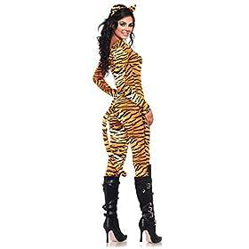Leg Avenue Women's 2 Piece Wild Tigress Catsuit Costume
