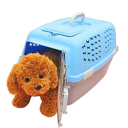 PAN-EX Mascotas Bolsas portátiles Caja de Pet Airways Cheque Los maletines Maletas de Transporte de Equipaje para Gatos/Perros y Otras Mascotas (Top sin Orificios de ventilación del Techo Solar) Peq