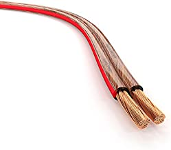KabelDirekt – Pure Copper Stereo Audio Speaker Wire & Cable – Made in Germany – 14 AWG Gauge – 100 feet – (for HiFi Speakers and Surround Sound Systems, Pure Copper, with Polarity Markings)