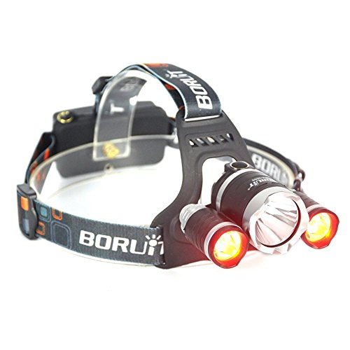 BESTSUN Red Light Headlamp, Night Hunting Red Headlight, Rechargeable Headlamp with Red & White Light, Red Varmint Predator Hunting Light, Night Vision Headlamp for Astronomy, Aviation, Detector