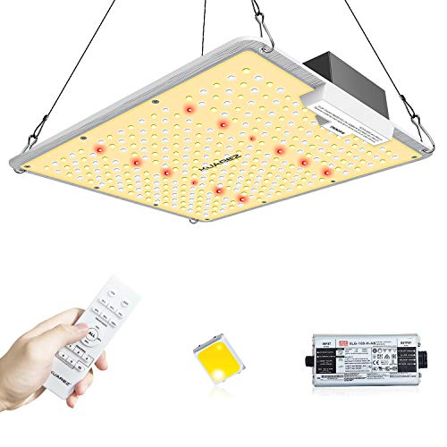 KUAREZ 1000 Led Grow Light with Remote Daisy Chain Dimmable Grow Light for Indoor Plants Full Spectrum Plant Grow Lights with Samsung Chips & MeanWell Driver Veg Bloom Greenhouse Light