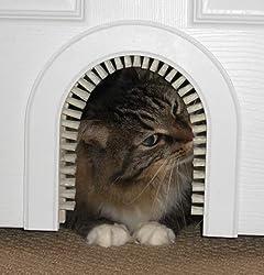 Cat Door - Cathole Interior Pet Door With Cleaning Brush