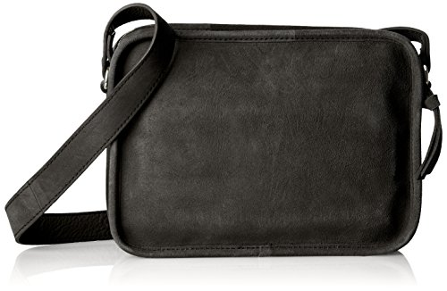 PIECES Damen Pcgaya Suede Cross Body Umhängetasche, Schwarz (Black), 3x15x20 cm