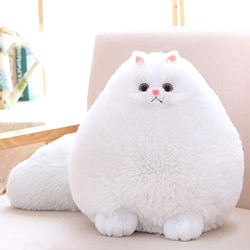 """Lanmore 12"""" Stuffed Cat Animal Toys Plush Cat Animal for Girl Kids Gift White"""