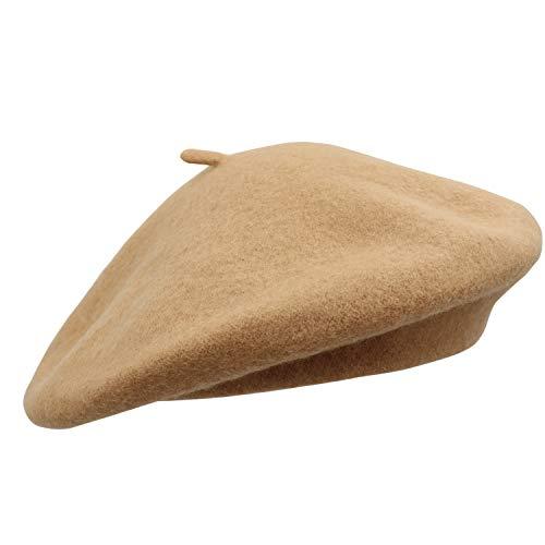 Umeepar Umeepar Damen Wolle Französischen Baskenmütze (Camel)