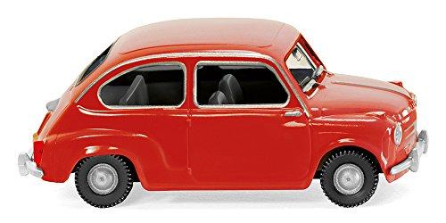 Fiat 600, rojo - Modelo de Auto, modello completo - Wiking 1:87